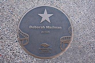 Deborah Mailman - Mailman's plaque at the Australian Film Walk of Fame, Ritz Cinema, Randwick, Sydney