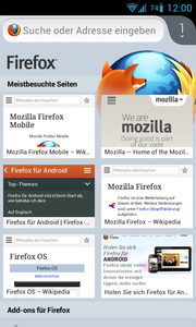 Firefox Mobile 19.0 Android 4.2 de