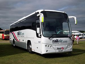First Berkshire & The Thames Valley - RailAir liveried Plaxton Panther bodied Volvo B9R in September 2012