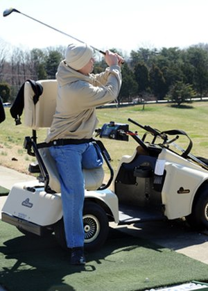 Assistive technology in sport - Image: First Swing program assistive tech golf