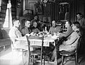 First World War, meal, music, musical instrument, tableau, men, uniform, drinking, musician, restaurant, hospitality Fortepan 11473.jpg