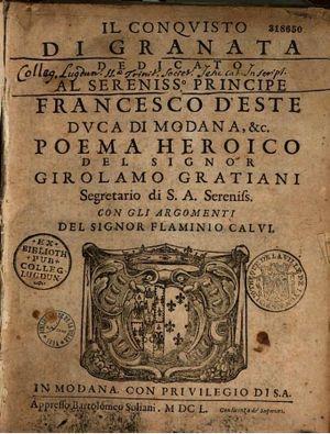 Il Conquisto di Granata - Il Conquisto di Granata - Girolamo Graziani (1650)