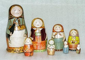 Vasily Zvyozdochkin - The original matryoshka by Zvyozdochkin and Malyutin