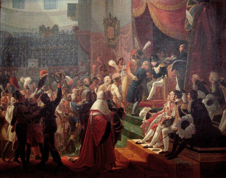Archivo:First remittance of the Legion d Honneur 15 July 1804 at Saint Louis des Invalides by Jean Baptiste Debret 1812.jpg