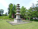 Five-story Stone Pagoda on the Seonggeosa Temple Site in Gwangju (Attributed) 2.JPG