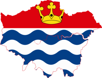 Lord Lieutenant of Greater London - Image: Flag map of Greater London