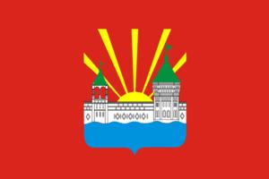 Dzerzhinsky, Moscow Oblast - Image: Flag of Dzerzhinsky (Moscow oblast)