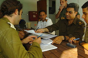 August 16, 2005. Israeli soldiers regularly me...
