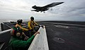 Flickr - Official U.S. Navy Imagery - An F-A-18E lands aboard USS John C. Stennis ..jpg
