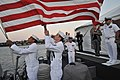 Flickr - Official U.S. Navy Imagery - SAILORS lower the American flag..jpg