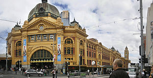 Fawcett and Ashworth - View of Flinders Street station