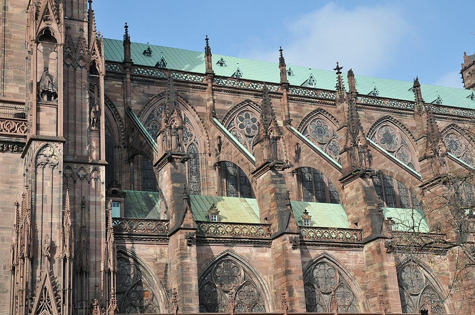 Flying buttresses of Cathédrale Notre-Dame de Strasbourg