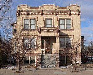 National Register of Historic Places listings in Scotts Bluff County, Nebraska - Image: Fontenelle Apartments (Scottsbluff, NE) from E 1
