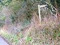 Footpath sign, Damerham - geograph.org.uk - 1160916.jpg