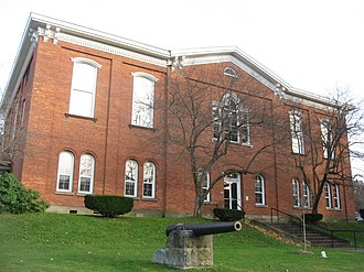 Forest County, Pennsylvania - Image: Forest County Courthouse, Tionesta, from north