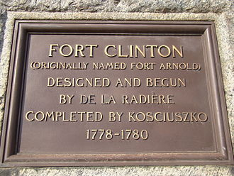 Fort Clinton (West Point) - Image: Fort Clinton, NY (Formerly Arnold) Historical Marker