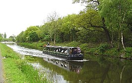 Het Forth and Clyde Canal tussen Bonnybridge en Larbert