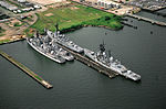 Four destroyers awaiting to be scrapped at Baltimore in 1994.jpeg