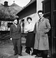Fr.v. Doktor Schwabacher, fru Saether, lektor Roos. Stockholm. Sverige - SMVK - C09180.tif