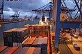 """Frachtschiffreise22 Container Feederderschiff MS """"Alexander B"""" Hamburg-Burchardkai.jpg"""