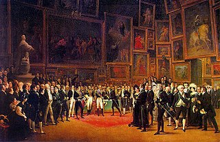 Charles X Distributing Awards to Artists Exhibiting at the Salon of 1824 at the Louvre January 15th 1825