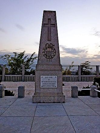 Vardar Offensive - French military cemetery in Skopje.