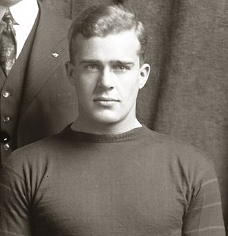 Frank Culver - Frank Culver cropped from 1919 Michigan football team photograph