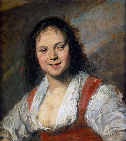 Frans Hals. Gypsy Girl. 1628-30. Oil on wood, 58 x 52 cm. Musee du Louvre, Paris. Frans Hals 008.jpg