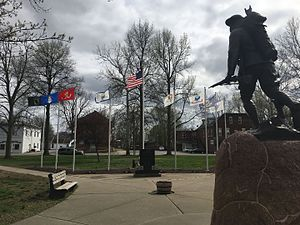 Freeburg, Illinois - Military memorial in the village page