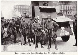 Armed Freikorps paramilitaries in Weimar Germany in 1919
