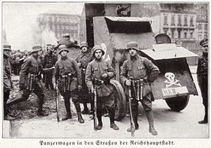 Freikorps - Armed Freikorps paramilitaries in Weimar Germany in 1919