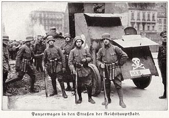 Freikorps - Armed Freikorps paramilitaries in Berlin in 1919.