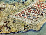 French royal artillery besieging Nice