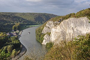 English: The Meuse south of Dinant (Belgium). ...