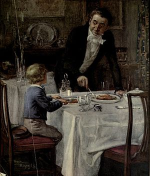 Friendly waiter from David Copperfield art by Frank Reynolds.jpg