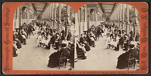 "Patrick Gilmore - ""Front Piazza of Grand Hotel, 4 P.M. with Gilmore's Boston Band, Saratoga, N.Y.,"" mid-19th century"