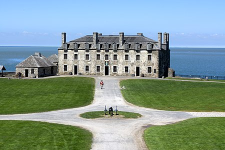 Front view of the French Castle at Fort Niagara