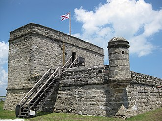 Fort Matanzas National Monument - View of fort's western and southern facades