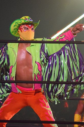 CMLL Arena Coliseo Tag Team Championship - Fuego, one-half of Los Bombardieros del Aire, the longest reigning champions to date.