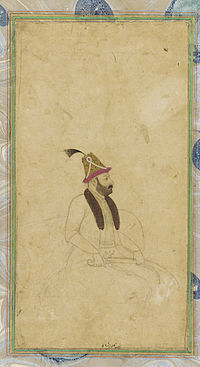 Nader Shah's portrait from the collection of the Smithsonian Institution