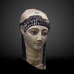 Funerary mask of a woman-MAHG 012485