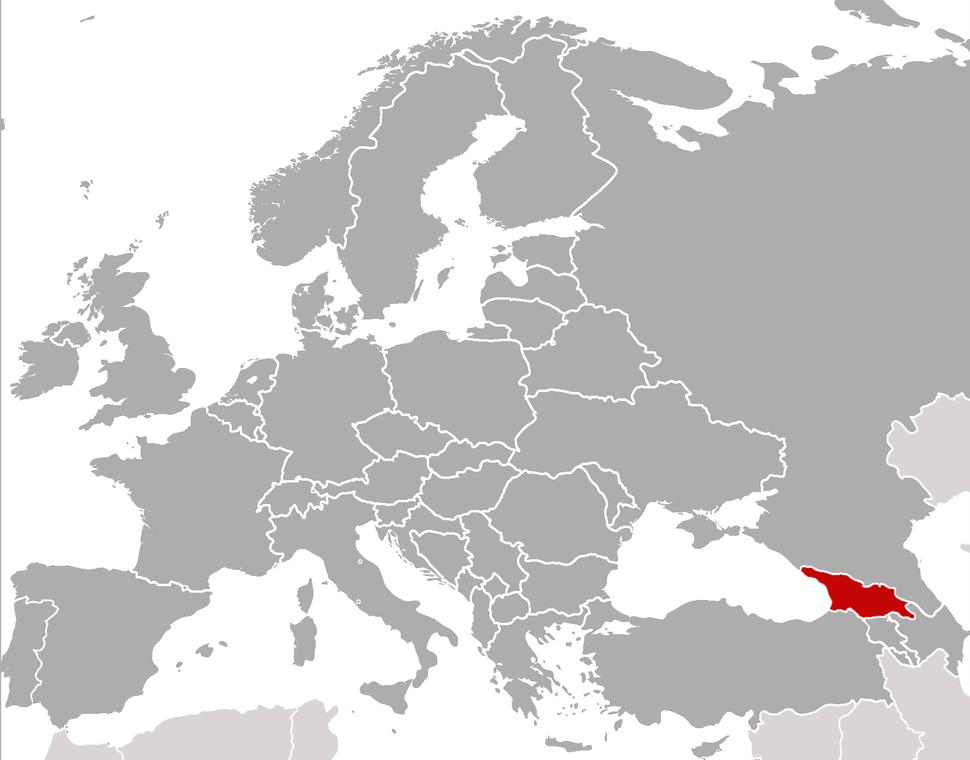 Položaj Gruzije na karti