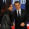 G-20 Cannes 2011 - Cristina Fernández de Kirchner and Nicolas Sarkozy.jpg