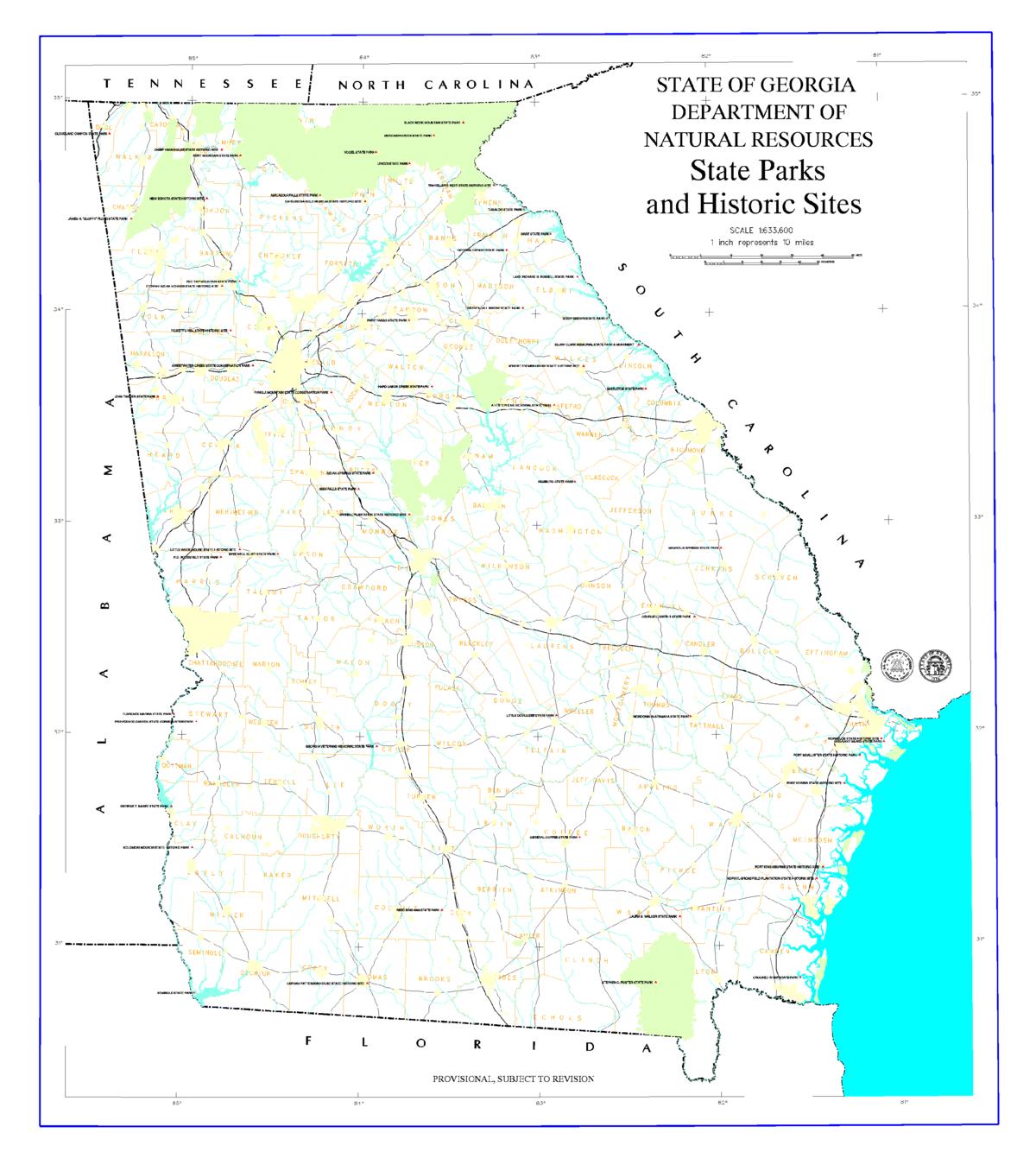 State Parks In Georgia Boarische Wikipedia - State map georgia