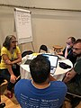 GLAM focus area at the Wikimania 2019 hackathon.jpg