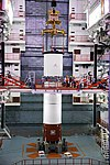 GSLV F11- First stage core being stacked.jpg