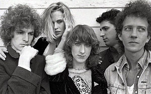 Game Theory (band) - Game Theory publicity photo in 1986 (Scott Miller, Donnette Thayer, Shelley LaFreniere, Guillaume Gassuan, Gil Ray)