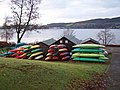 Gare Loch, canoes at Blairvadach - geograph.org.uk - 87920.jpg