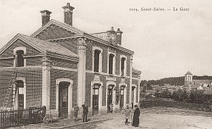 Saint-Saëns, Seine-Maritime - The old railway station