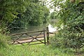 Gate onto towpath of Grand Union Canal by bridge number 31 - geograph.org.uk - 1416567.jpg